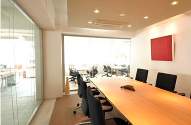 Sound proof meeting space with projector and white board